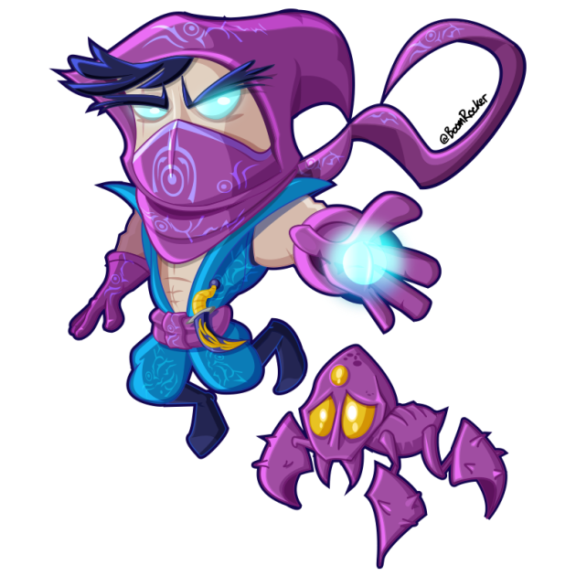 Malzahar and Voidling from League of Legends