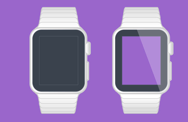 Apple WATCH vector Template