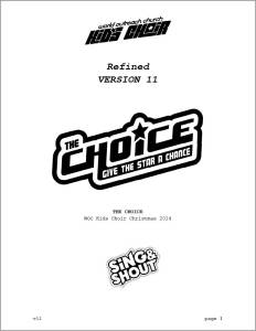 The Choice Script Cover